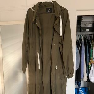 Zara light rain jacket with detachable hoodie